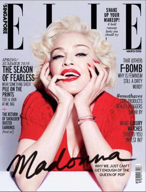 Madonna on the Cover of Elle Magazine Spring 2016 at buySellMadonna.co.uk