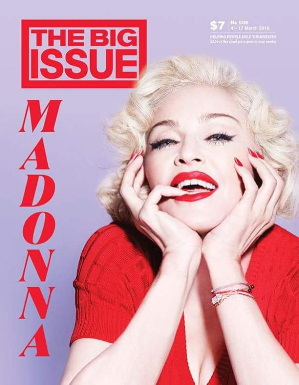 Australia Big Issue 2016 Madonna cover magazine