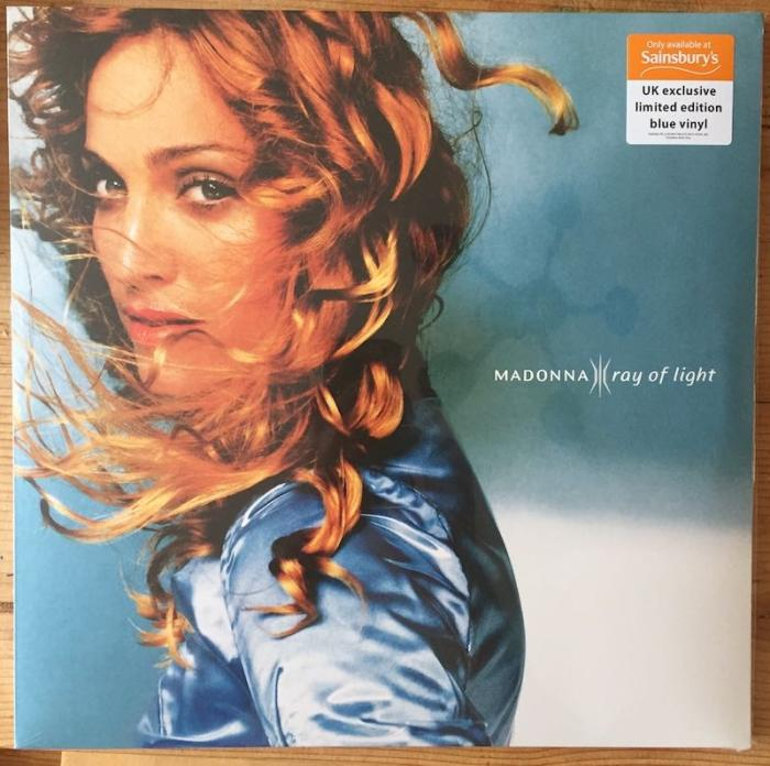 Madonna Sainsbury's limited edition Ray Of Light Blue Vinyl LP front cover
