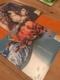 Madonna UK Sainsbury blue vinyl Ray Of Light LP and Like A Virgin clear vinyl LP