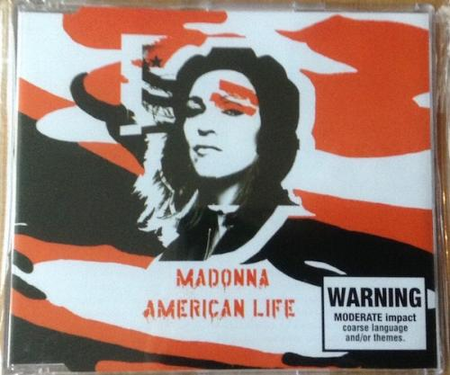 Picture of: AMERICA LIFE AUSTRALIAN CD SINGLE WITH RED INLAY & MINT SEALED CONDITION at buySellMadonna.co.uk