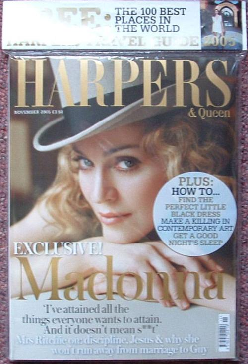 Picture of: HARPERS AND QUEEN UK MADONNA COVER MAGAZINE (NOV 2005) MINT AND SEALED! at buySellMadonna.co.uk